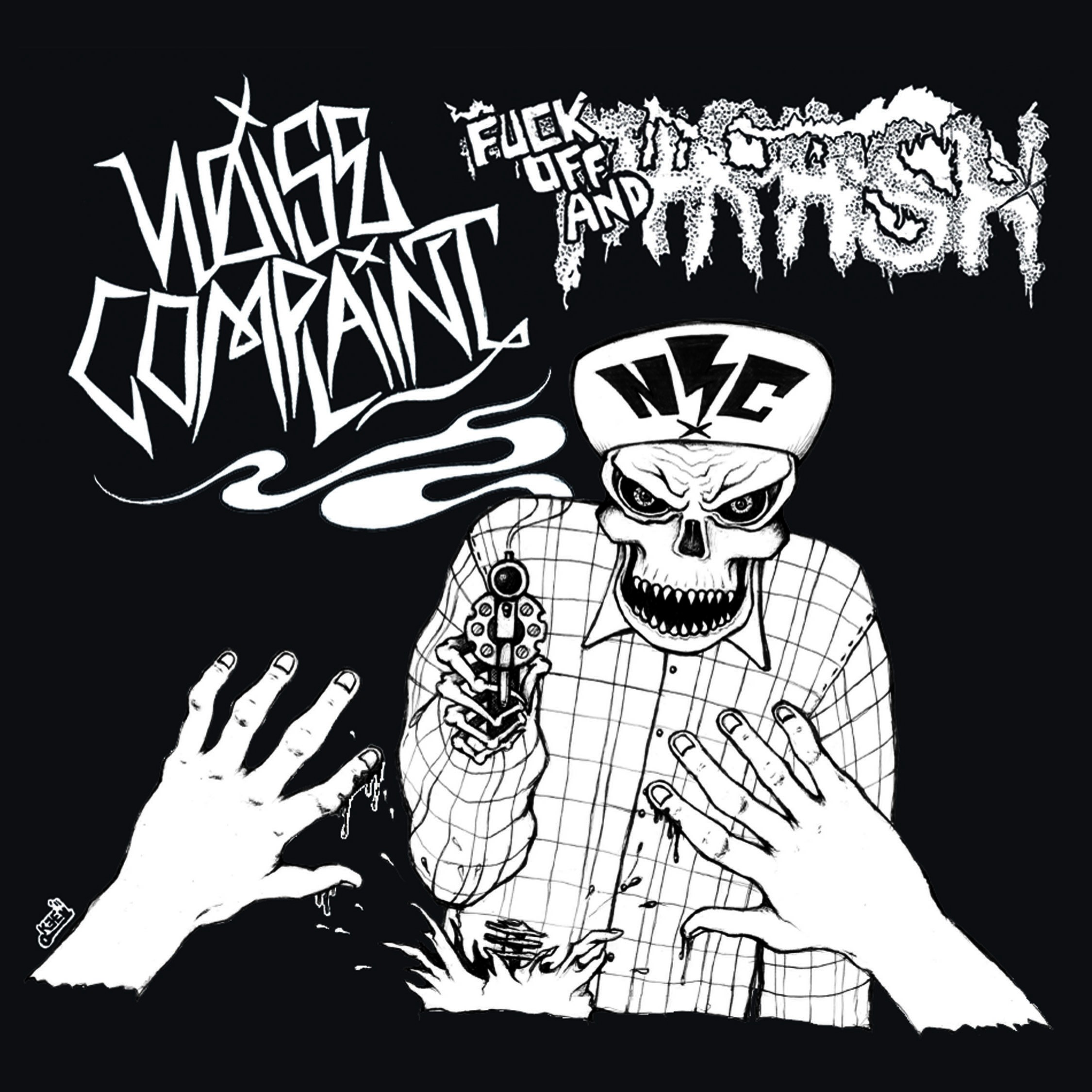 """Noise Complaint - Fuck Off and Thrash - 7"""" Suburban White Trash Records/A World We Never Made/ Assault Skateboards/Plastic Fact/ Anarchotic Records"""