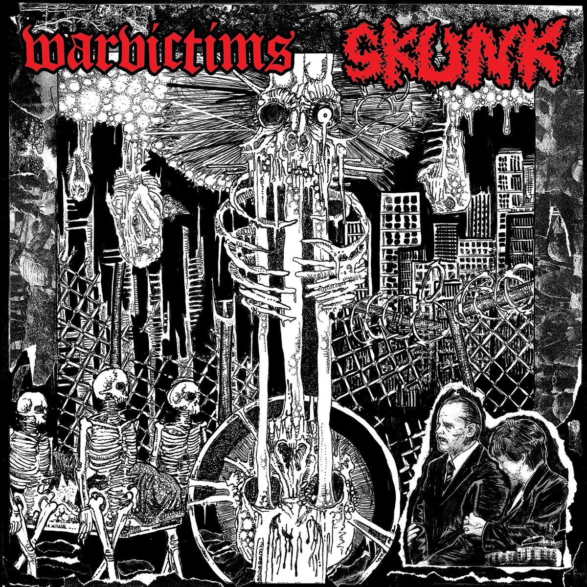"Warvictims / Skunk - split 7"" -Skull Crasher Records"