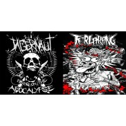 "Jagernaut (Bring on the Apocalyse) / Terlarang (Barai Thrash EP) - Split 7"" - Suburban White Trash Records/Black Trash/Tenzenmen/Screaming Victims"